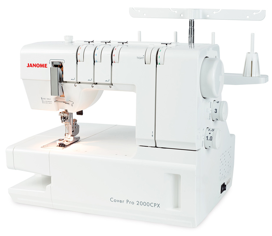 Janome CoverPro 2000CPX Coverstitch Machine at K-W Sewing Machines