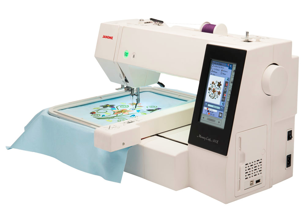 Janome Memory Craft 500E Embroidery Machine at K-W Sewing Machines in Kitchener